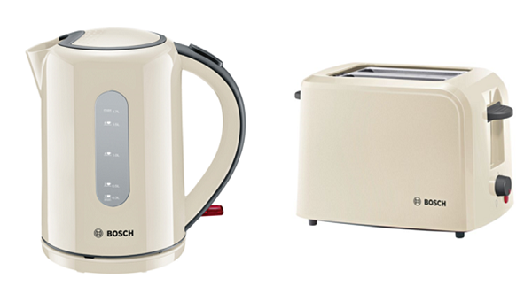 TWK76075GB + TAT3A0175G Toaster and Kettle Set